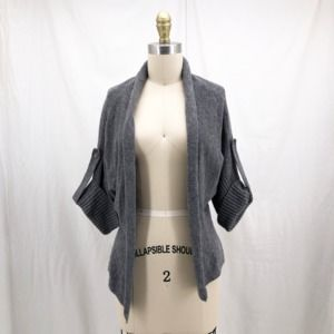 BANANA REPUBLIC Gray Cashmere Cardigan Sweater